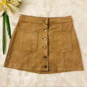Altar'd State Faux Suede Skirts Size Small